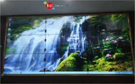 Beijing Fangshan Adult Education Center Video Conference 3X3 46 inch 5.3mm Stitching Large Screen Project